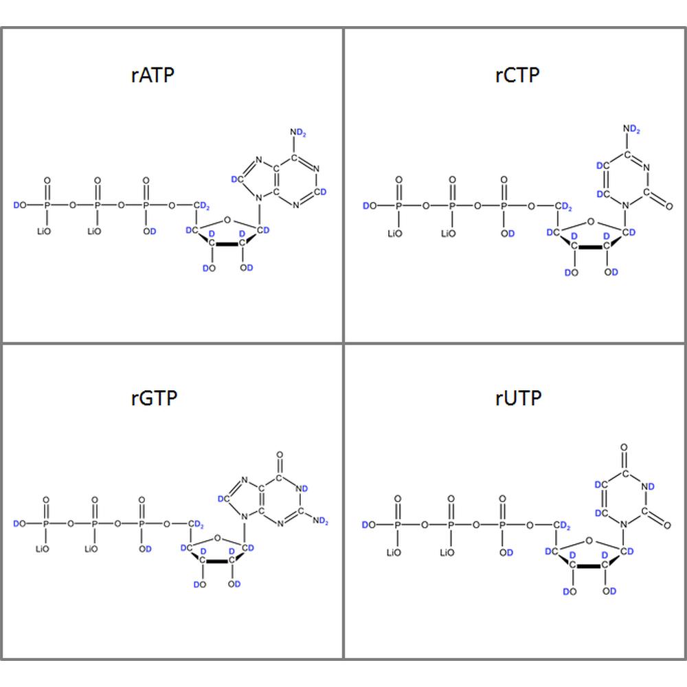 Set of 2H-labeled rNTPs,  4x50mg