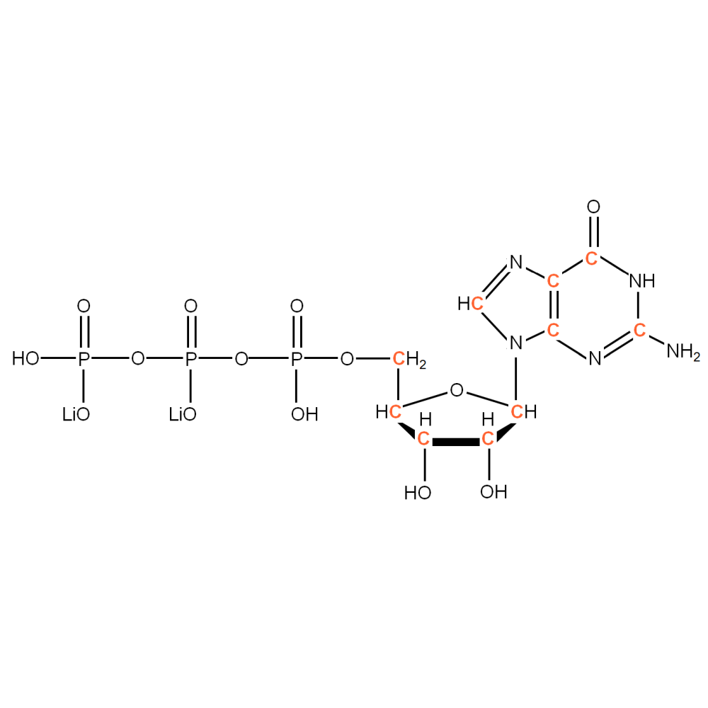 13C-labelled rGTP