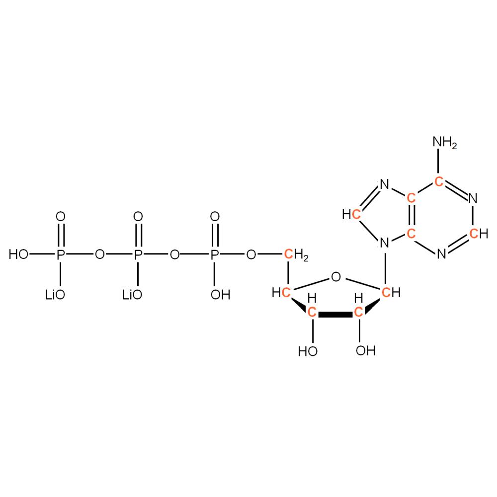 13C-labelled rATP