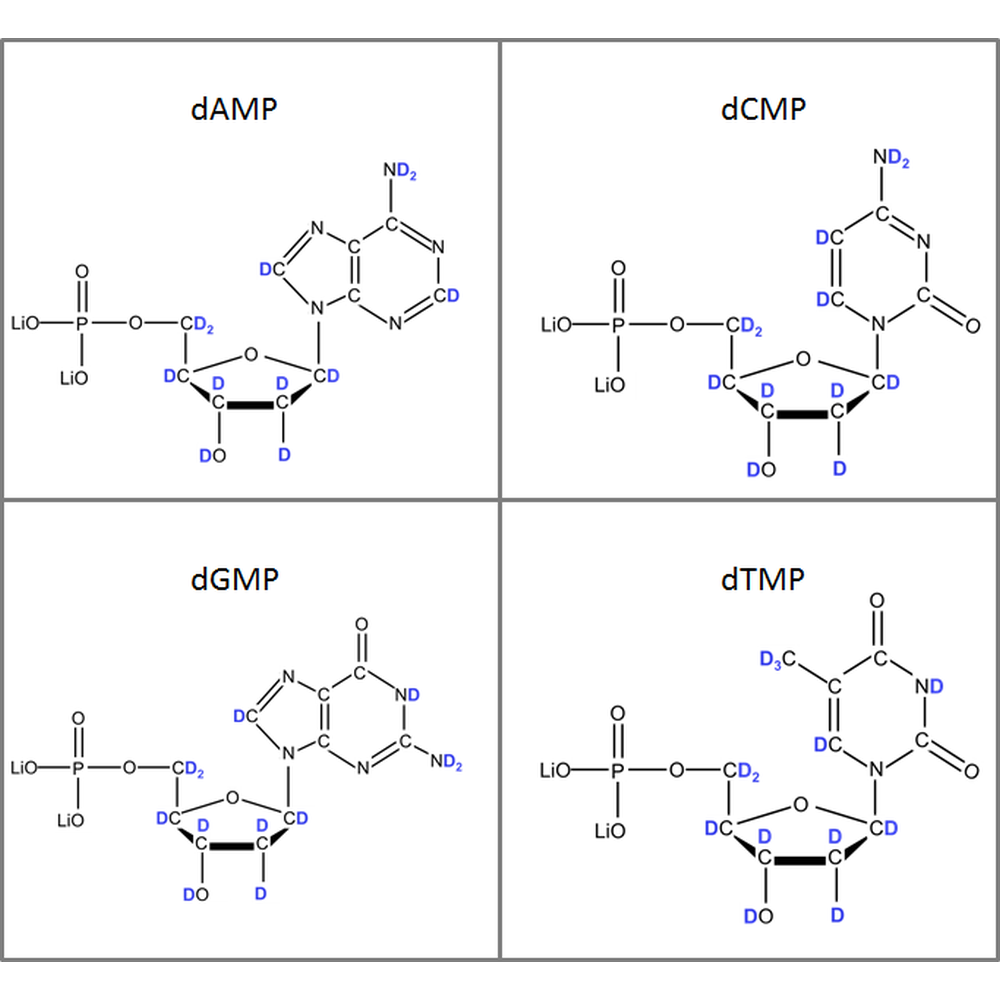 Set of 2H-labeled dNMPs,  4x10mg