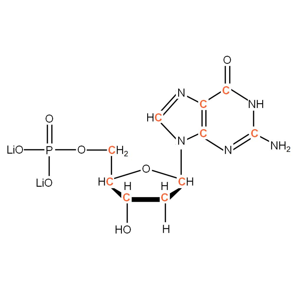 13C-labelled dGMP
