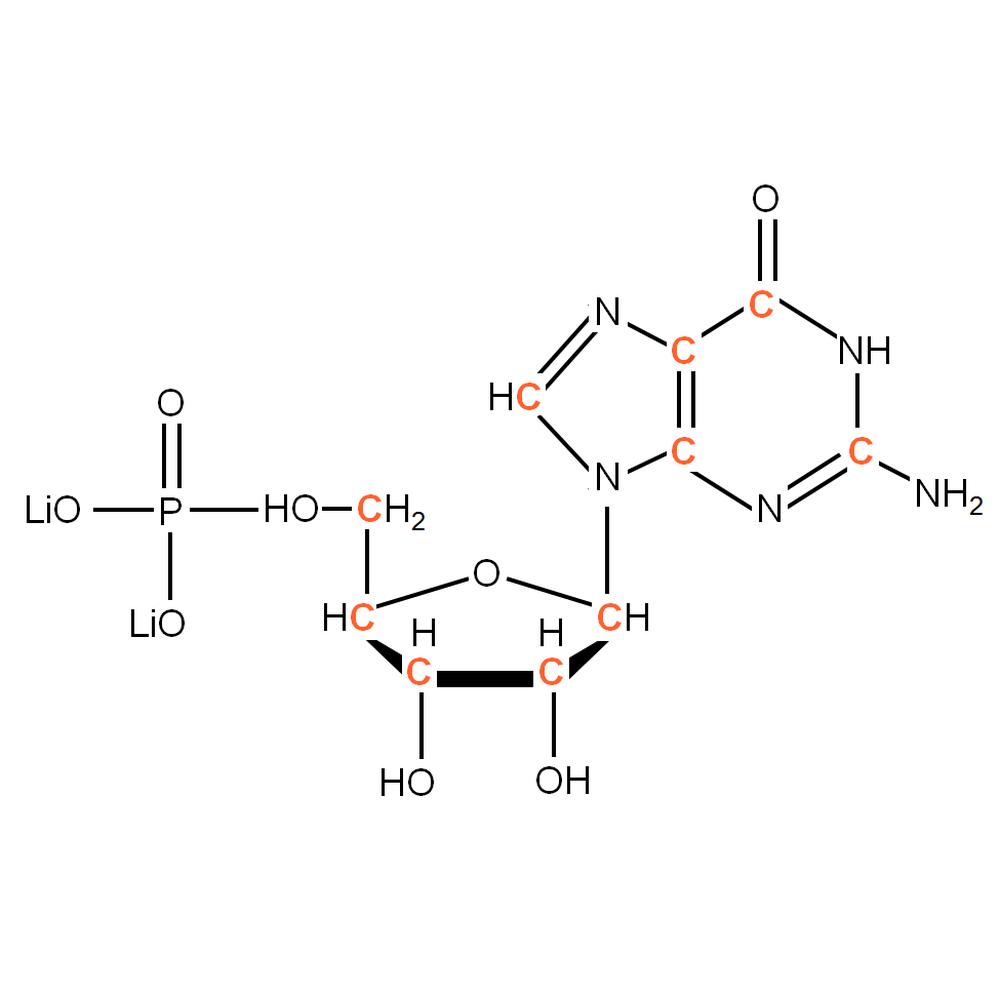 13C-labelled rGMP