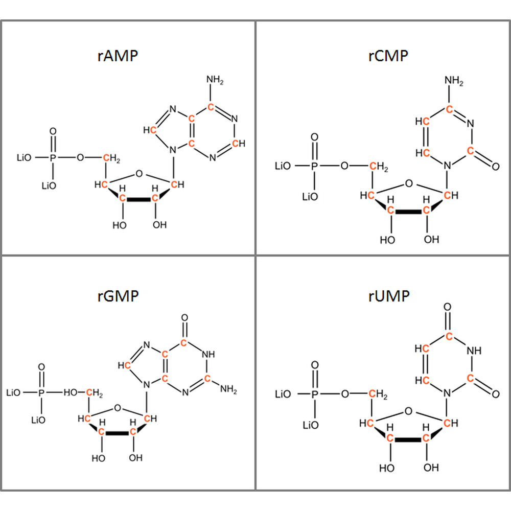 Set of 13C-labeled rNMPs,  4x10mg