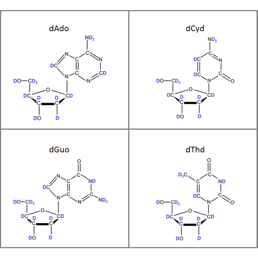 Set of 2H-labeled dNs,  4x10mg