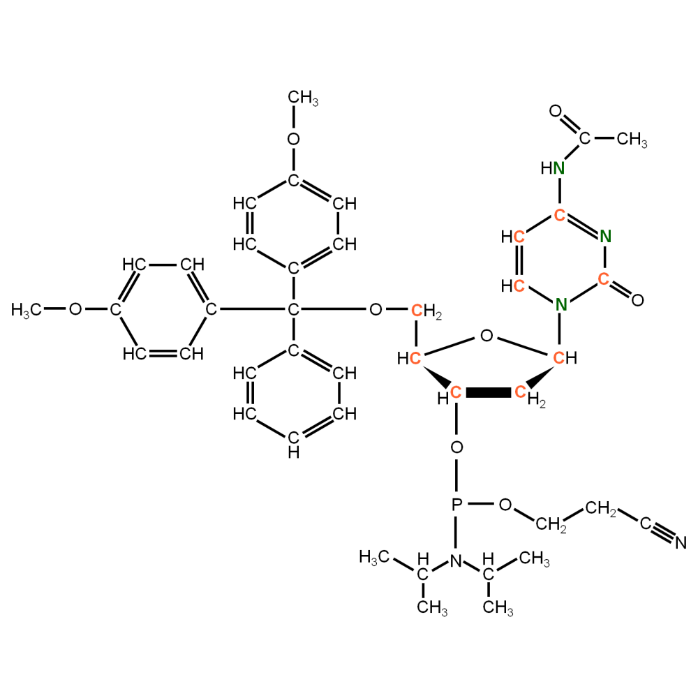 13C15N-labelled dC  Phosphoramidite (uniformly  labeled)