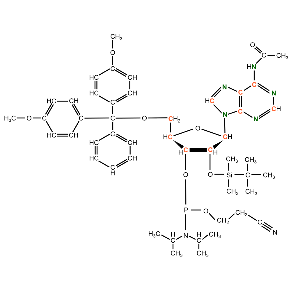 13C15N-labelled rA  Phosphoramidite  (uniformly labeled)