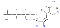 2H Adenosine 5'-triphosphate  lithium salt solution