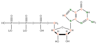 13C 15N Guanosine 5'- triphosphate lithium salt  solution