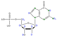 2H 15N Deoxyguanosine  5'-monophosphate