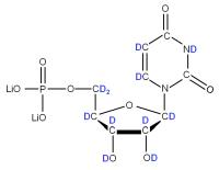 2H Uridine 5'-monophosphate  lithium salt solution