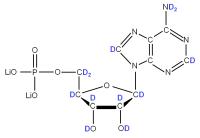 2H Adenosine 5'- monophosphate lithium salt  solution