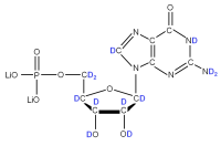 2H Guanosine 5'- monophosphate lithium salt  solution
