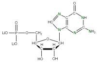 15N Guanosine 5'- monophosphate lithium salt  solution