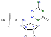 2H 15N Cytidine 5'- monophosphate lithium salt  solution