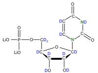2H 15N Uridine 5'- monophosphate lithium salt  solution