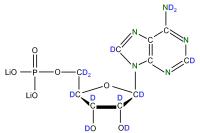 2H 15N Adenosine 5'- monophosphate lithium salt  solution