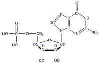 2H 15N Guanosine 5'- monophosphate lithium salt  solution