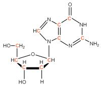 U-13C Deoxyriboguanosine  powder