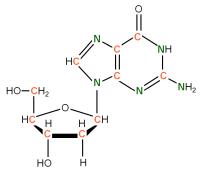 U-13C U-15N  Deoxyriboguanosine powder