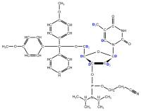 2H-labeled dT  Phosphoramidite  (uniformly labelled)