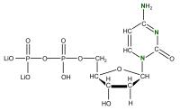15N Deoxycytidine 5'- diphosphate lithium salt  solution