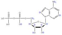 2H Adenosine 5'- diphosphate lithium salt  solution