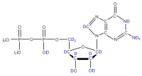 2H Guanosine 5'-diphosphate  lithium salt solution