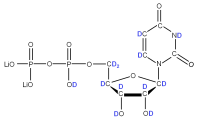 2H Uridine 5'-diphosphate  lithium salt solution