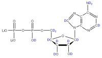 2H Adenosine 5'-diphosphate  lithium salt solution