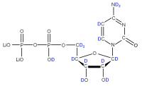 2H Cytidine 5'-diphosphate  lithium salt solution