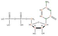 13C 15N Cytidine 5'- diphosphate lithium salt  solution