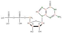 13C 15N Guanosine 5'- diphosphate lithium salt  solution