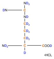 2H 13C L-Arginine  hydrochloride powder